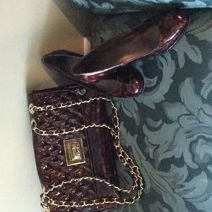 Matching shoes and purse
